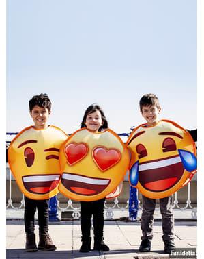 Fato de Emoji sorridente com olhos de coração infantil