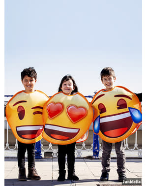 Kids Emoji Costume smiling with heart eyes