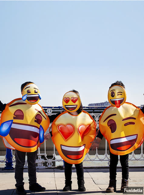 Disfraz de Emoji sonriente con ojos de corazón infantil - original