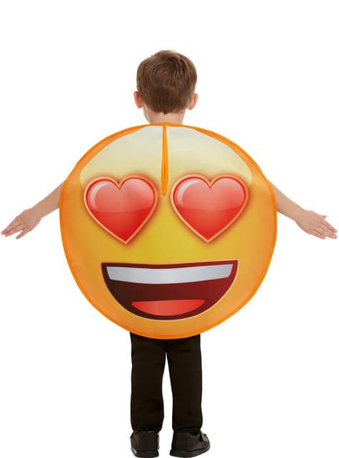 Disfraz de Emoji sonriente con ojos de corazón infantil - Halloween
