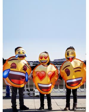 Emoji Kostume til børn blinkende
