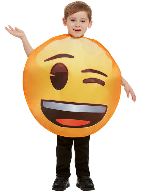 Disfraz de Emoji guiñando un ojo infantil - Halloween