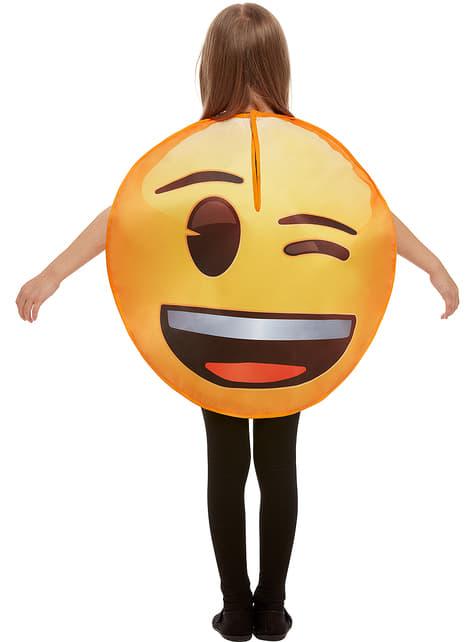 Disfraz de Emoji guiñando un ojo infantil - Carnaval
