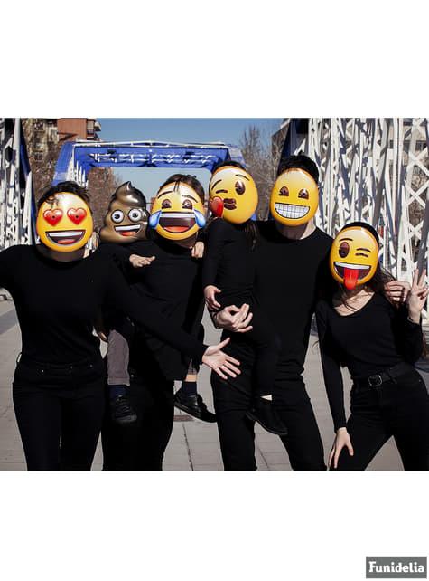 Conjunto de 6 máscaras Emoji para adulto