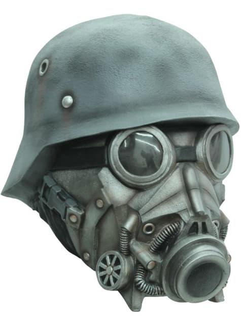 Máscara antigás con casco
