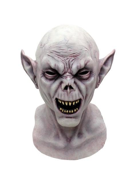 Höllen Vampir Maske Weiß