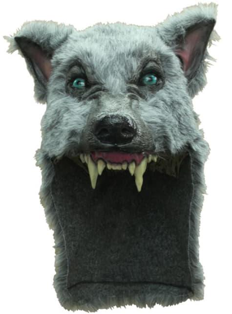 Casque de loup gris
