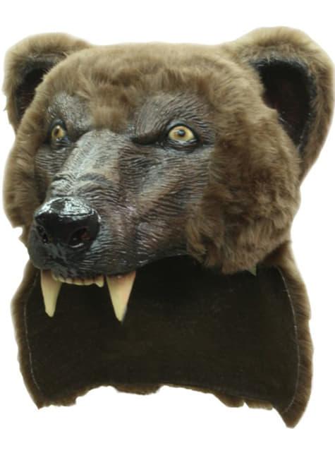 Capacete de urso castanho