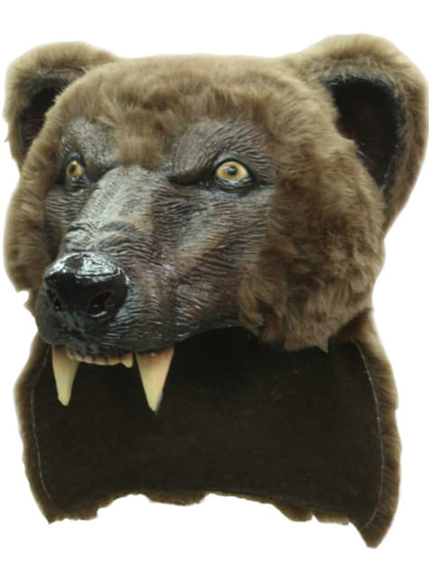 Casco de oso marrón