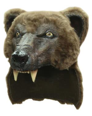 Brauner Bär Maske Kopfbedeckung
