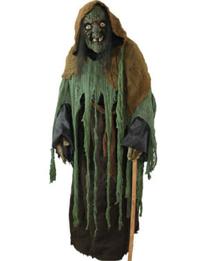 Grüne Grufthexen Kostüm Halloween Deluxe