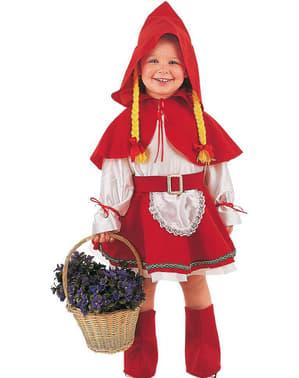 Deluxe Roodkapje kostuum voor baby's