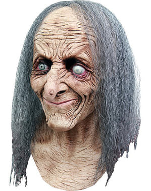 Graue Hexe Maske Haar