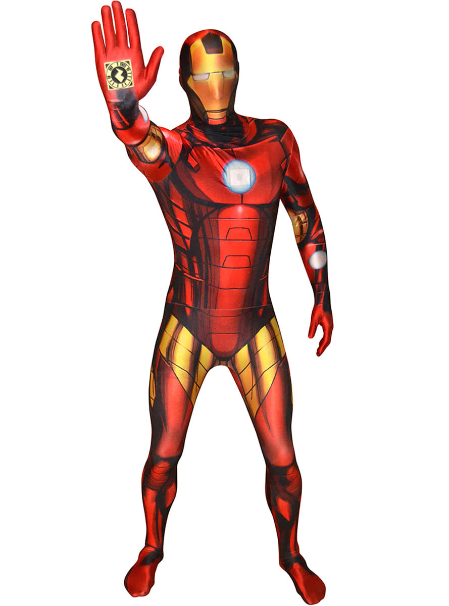 iron man morphsuit adult costume the coolest funidelia. Black Bedroom Furniture Sets. Home Design Ideas