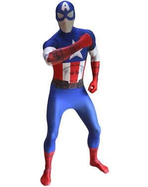 Captain America Morphsuit Kostyme Voksen