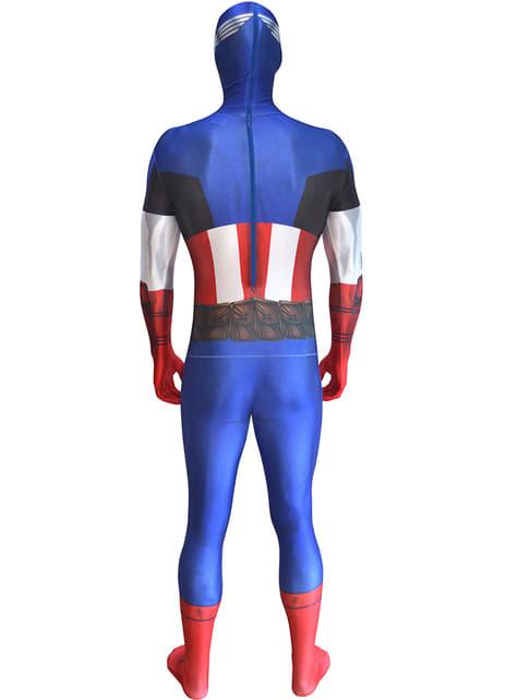 Disfraz de Capitán América Morphsuit - hombre