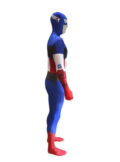 Disfraz de Capitán América Morphsuit - original