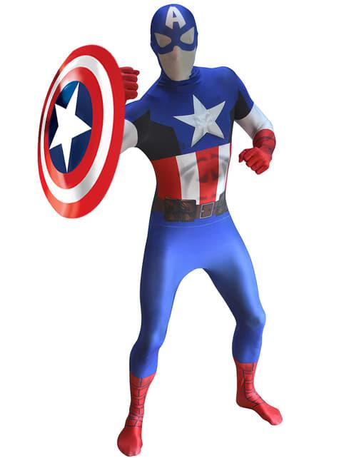 Kapteeni Amerikka -Morphsuit-asu aikuisille