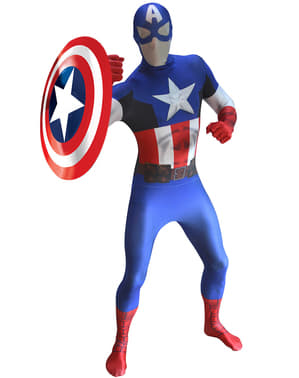 Captain America Morphsuit Adult Costume
