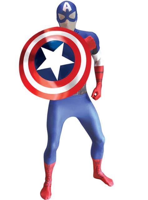 Disfraz de Capitán América Morphsuit - Halloween