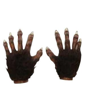Razkošne rokavice iz rjavega volka