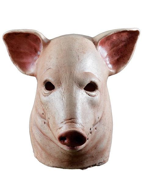 Máscara de cerdo sangriento