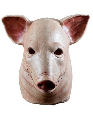 Máscara de porco a sangrar