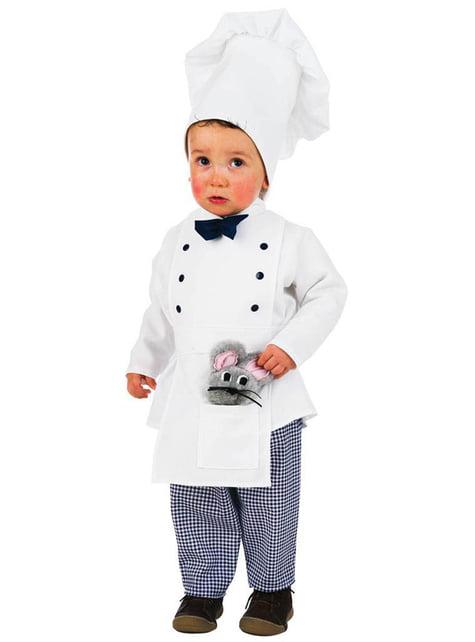 Fato de cozinheiro para bebé