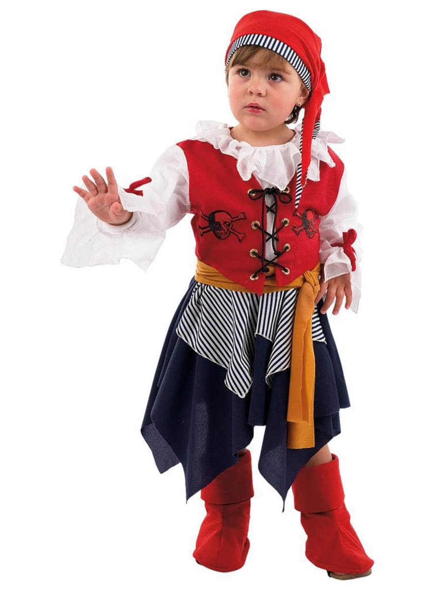 buccaneer pirate girl infant costume: buy online at funidelia.