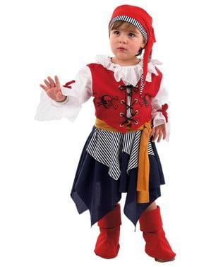 Buccaneer Pirat Jente Spedbarn Kostyme