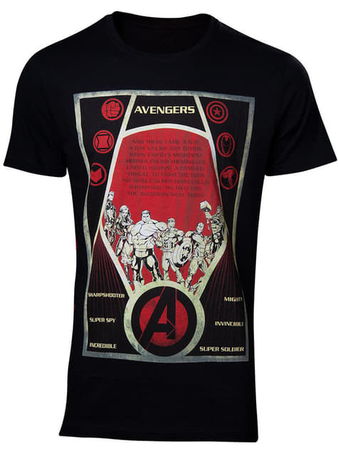 The Avengers plakat T-shirt til mænd