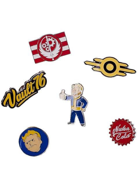 6 geassorteerde Fallout insignes