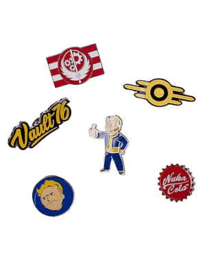 Set med 6 Pins Fallout