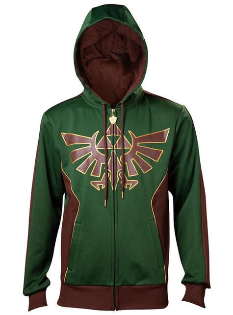 Legend of Zelda Hylian Crest hættetrøje til mænd