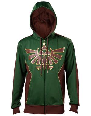 Sweatshirt The ledgend of Zelda Hylian Crest med huva vuxen