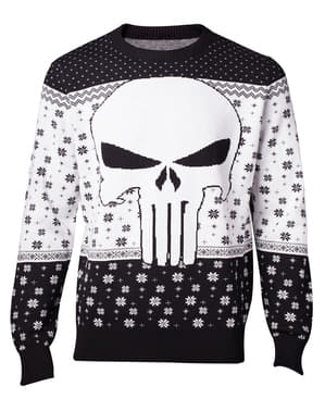 Sweater julig Punisher vuxen - Marvel