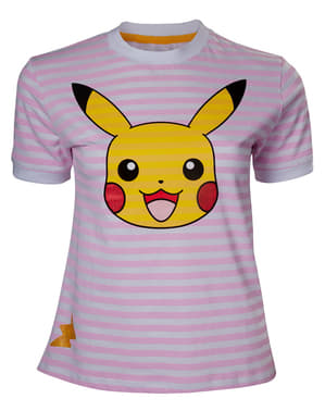 Pikachu striped T-Shirt for women - Pokemon