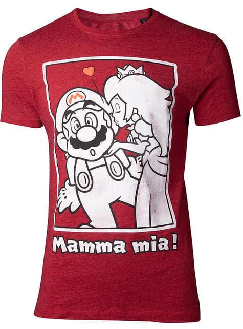 Camiseta de Super Mario Bros y Princesa Peach para hombre