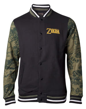 Legend of Zelda jacket for men with patterned sleeves