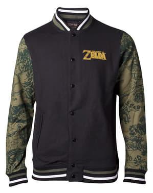 Legend of Zelda jakke til mænd med mønstrede ærmer