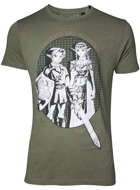 T-shirt de Zelda com Link e a Princesa Zelda para homem - The Legend of Zelda