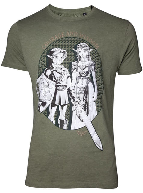 Zelda with Link and Princess Zelda T-Shirt for men - The Legend of Zelda