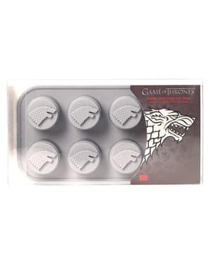 Molde de silicone para cubos de gelo do logo Casa Stark - Game of Thrones