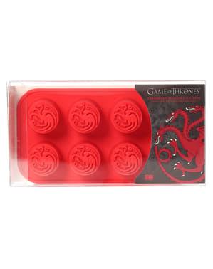Formă de silicon pentru cuburi de gheață cu logo Casei Targaryen - Game of Thrones