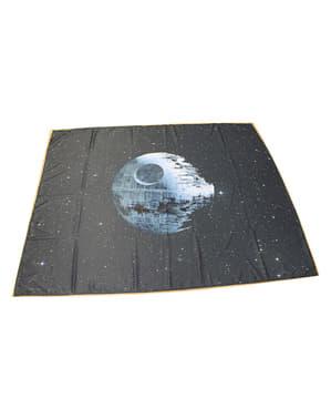 Conjunto de toalha de mesa, bases para quentes e guardanapos da Estrela da Morte - Star Wars