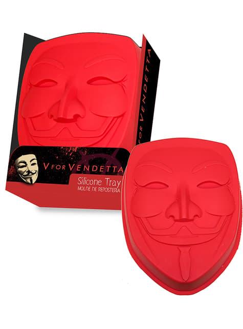 V of Vendetta mask silicone oven tray