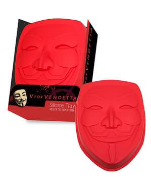 Molde de silicone para forno da máscara de V de Vendetta