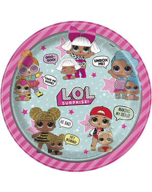 8 LOL Surprise plates (23cm) - LOL Friends
