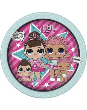 8 db LOL Surprise desszertes tányér (18cm) - LOL Friends