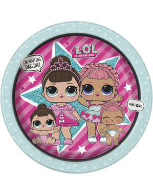 8 LOL Surprise dessert plates (18 cm) - LOL Friends
